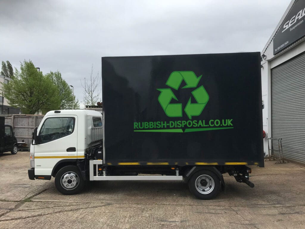 Lorry with Rubbish Disposal logo