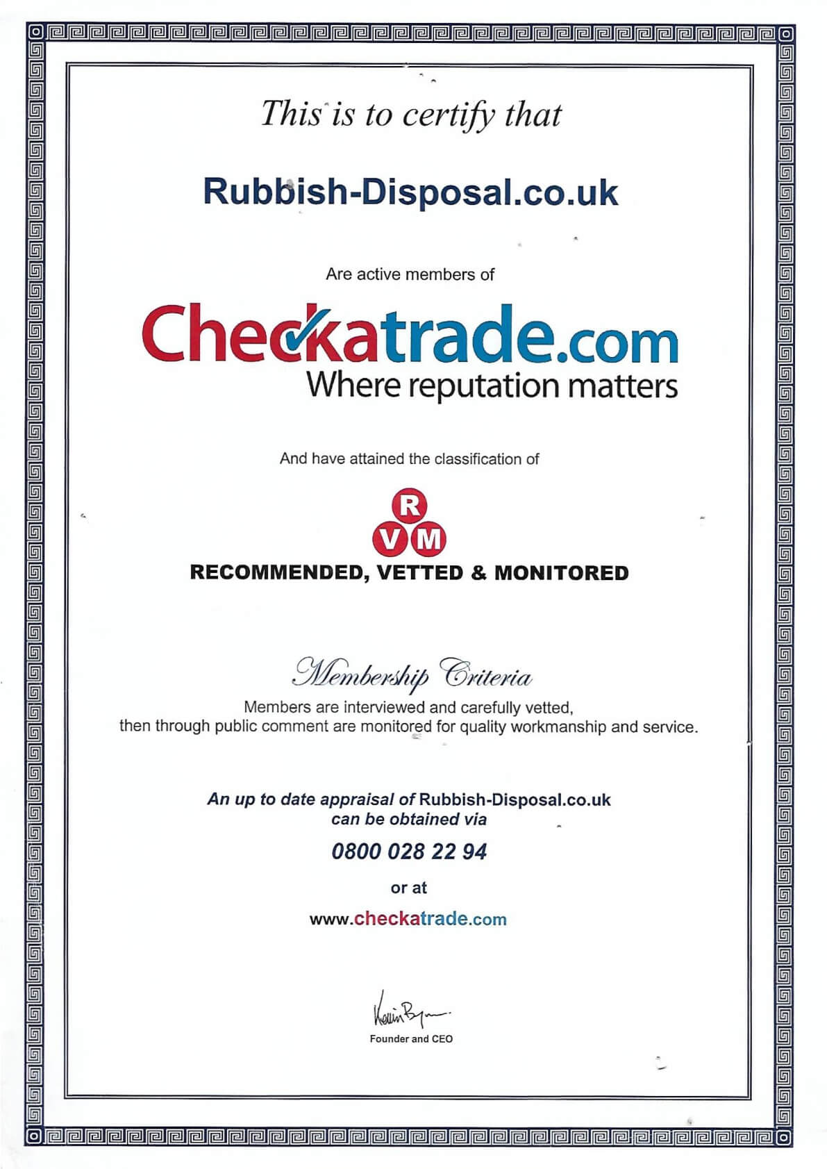 Checkatrade Registration